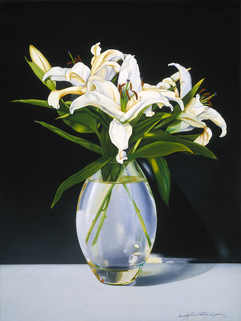 Sandy Freckleton Gagon Casa Blanca Lilies A Painting